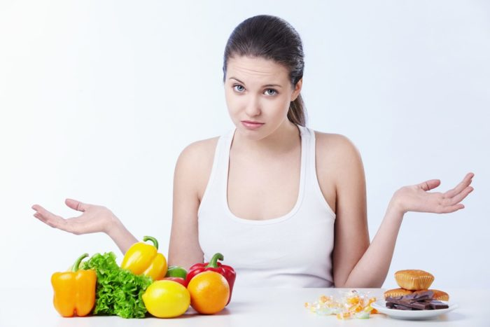 Woman looking confused about what to eat iifym diet