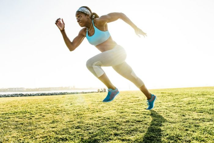 woman in a HIIT sprint workouts