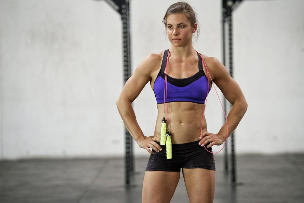 Julie foucher in the gym