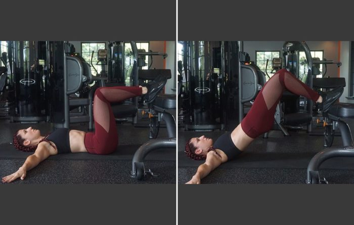 feet elevated hip thrust glute activation