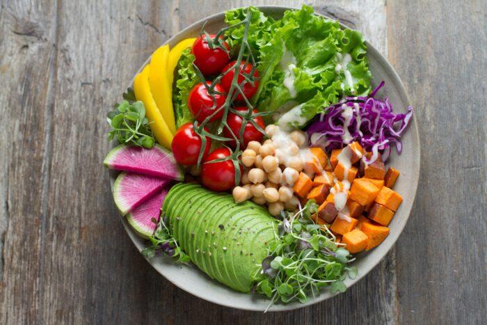 vegan muscle building diet plate of food
