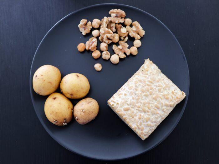 tempeh as part of a vegan muscle building diet