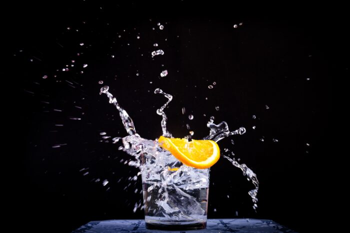 water in a vegan muscle building diet