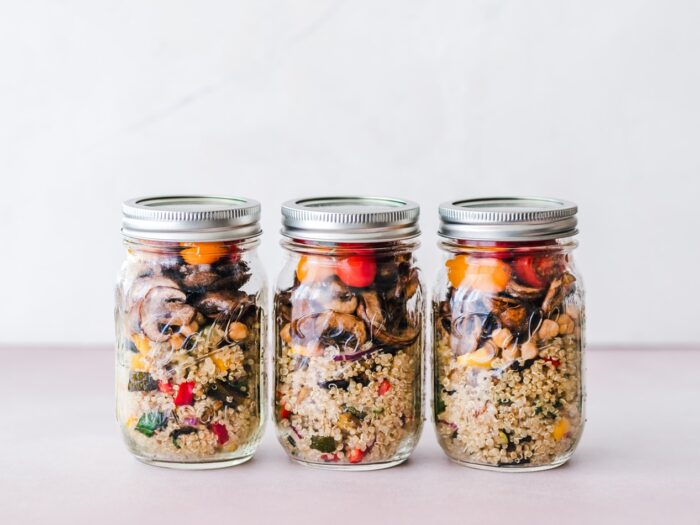 meal prep for weight loss jars