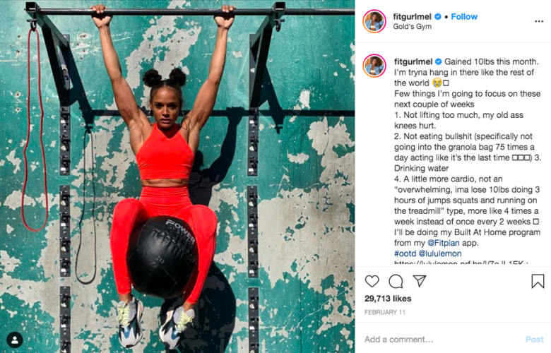 Fitgurlmel best female fitness instagram accounts